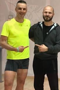 Luca Rabaglia e L'istruttore Mario Rabboni